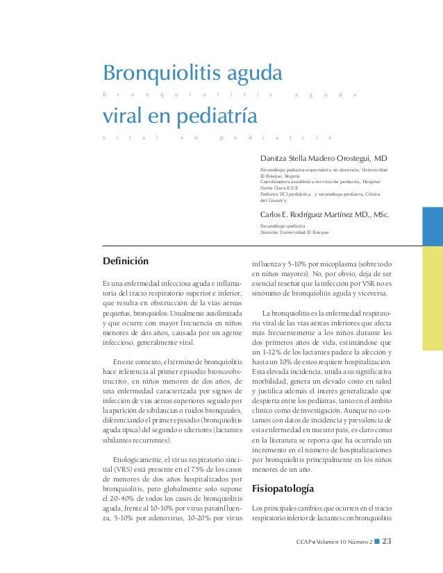 Bronquiolitis agudaB    r    o       n       q   u       i       o   l       i       t        i        s           a      ...