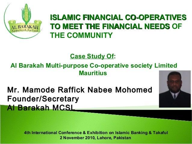 AlHuda CIBE- presentation on Islamic Financail Co-operatives