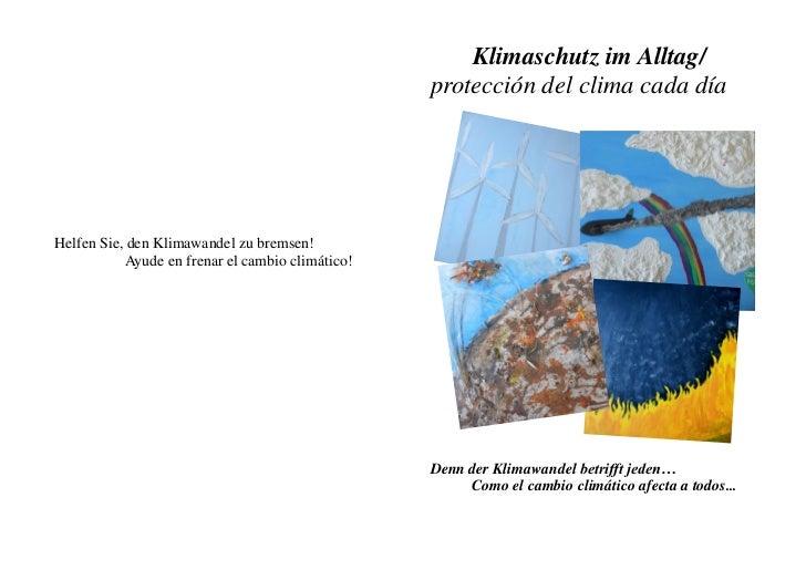 Klimaschutz im Alltag/                                                  protección del clima cada díaHelfen Sie, den Klima...