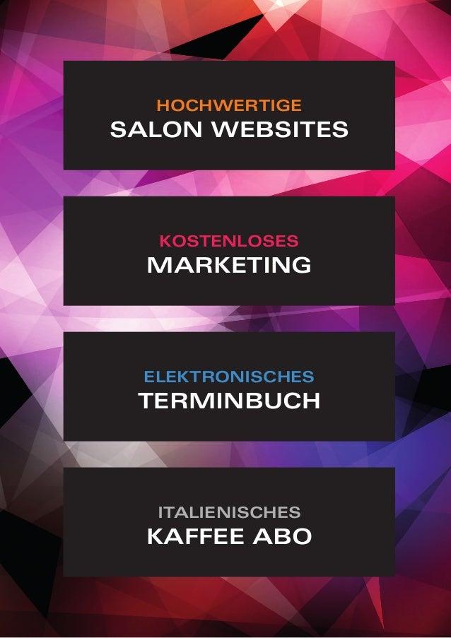 italienisches Kaffee Abo hochwertige Salon Websites elektronisches terminbuch kostenloses Marketing