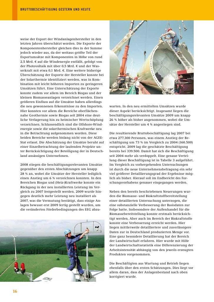 BRUTTOBESCHÄFTIGUNGGESTERNUNDHEUTE          weise der Export der Windanlagenhersteller in den      letzten Jahren über...