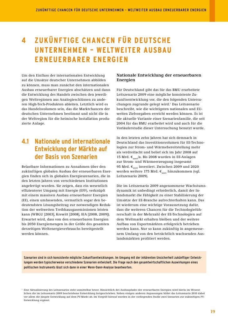 ZUKÜNFTIGECHANCENFÜRDEUTSCHEUNTERNEHMEN–WELTWEITERAUSBAUERNEUERBARERENERGIEN     4           ZuKÜnFtIGE ChAnCEn ...