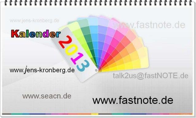 BüroService Kronberg Jahreskalender 2013