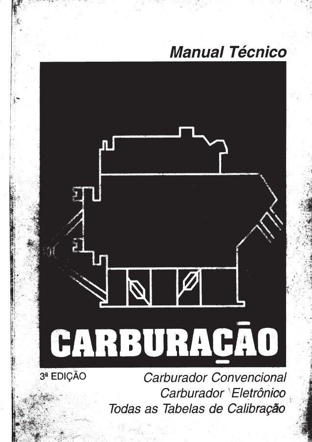 TABELAS DE CARBURAÇÃO BROSOL