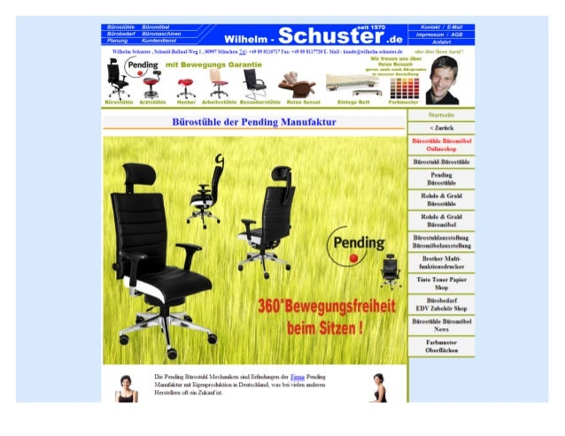 Bürostühle der pending manufaktur