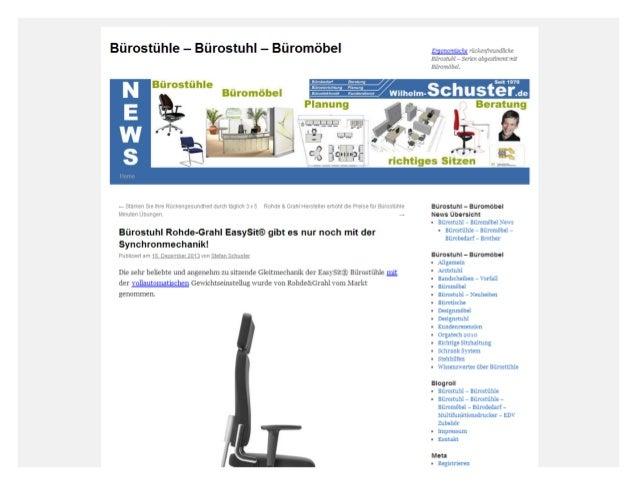 Bürostuhl rohde grahl easy sit® gibt es nur noch mit der synchronmechanik!