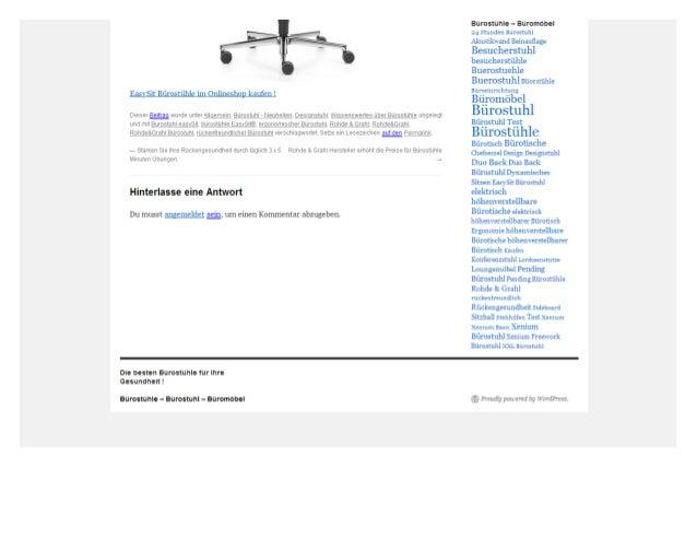 Bürostuhl rohde grahl easy sit® gibt es nur noch mit der synchronmechanik! Slide 3