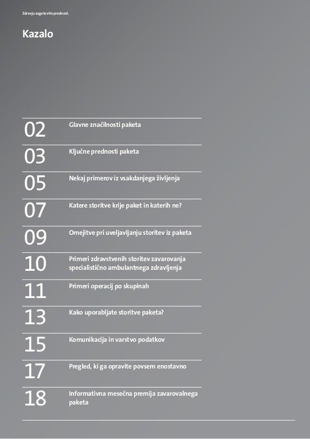 Brosura paket celovite zdravstvene obravnave (TRIGLAV, Zdravstvena zavarovalnica, d.d.) Slide 2