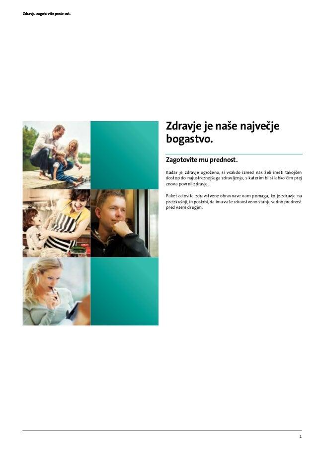 Brosura paket celovite zdravstvene obravnave (TRIGLAV, Zdravstvena zavarovalnica, d.d.) Slide 3