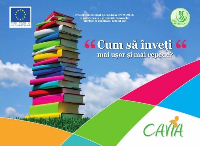 """Proiect implementat de Fundaţia Pro WOMEN în parteneriat cu primăriile comunelor Horleşti şi Popricani, judeţul Iaşi  """"  C..."""