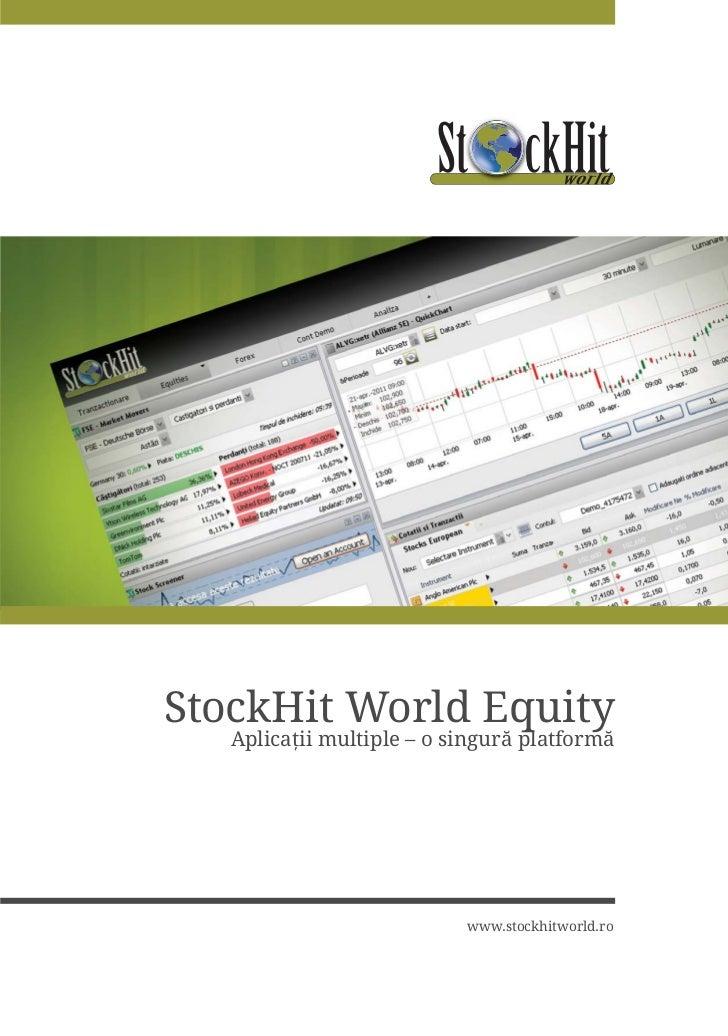 StockHit World Equity   $SOLFD LL PXOWLSOH   R VLQJXUÅ SODWIRUPÅ                            ZZZVWRFNKLWZRUOGUR