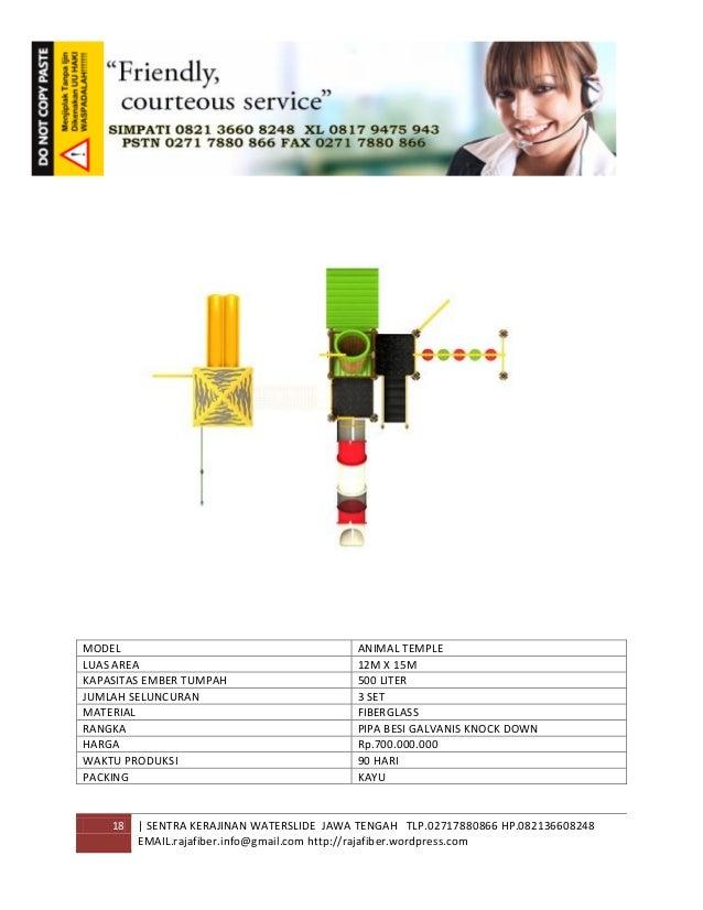 18 | SENTRA KERAJINAN WATERSLIDE JAWA TENGAH TLP.02717880866 HP.082136608248 EMAIL.rajafiber.info@gmail.com http://rajafib...