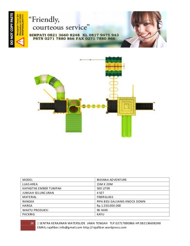 28 | SENTRA KERAJINAN WATERSLIDE JAWA TENGAH TLP.02717880866 HP.082136608248 EMAIL.rajafiber.info@gmail.com http://rajafib...