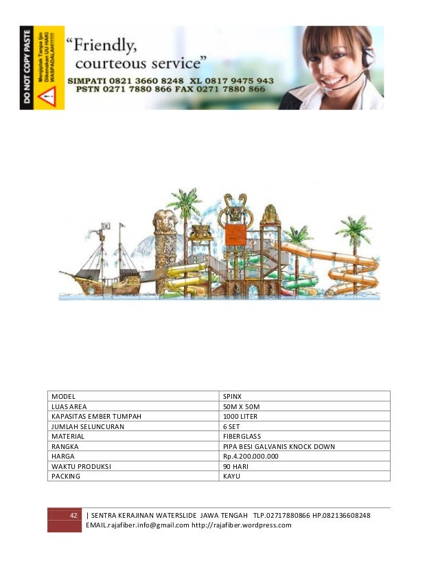 42 | SENTRA KERAJINAN WATERSLIDE JAWA TENGAH TLP.02717880866 HP.082136608248 EMAIL.rajafiber.info@gmail.com http://rajafib...