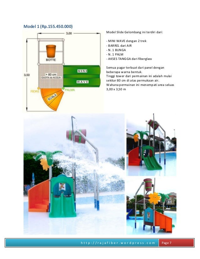 h t t p : / / r a j a f i b e r . w o r d p r e s s . c o m Page 7 Model 1 (Rp.155.450.000) Model Slide Gelombang ini terd...