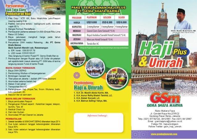 Brosur Haji Umroh Gsm 2015