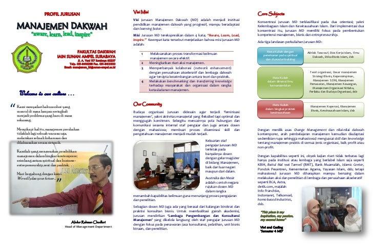 Brosur Jurusan Manajemen Dakwah Surabaya