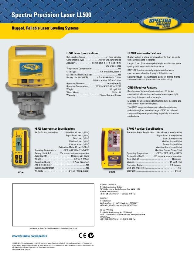 Jual Laser Level Spectra Ll500 Call Budi 082119953499