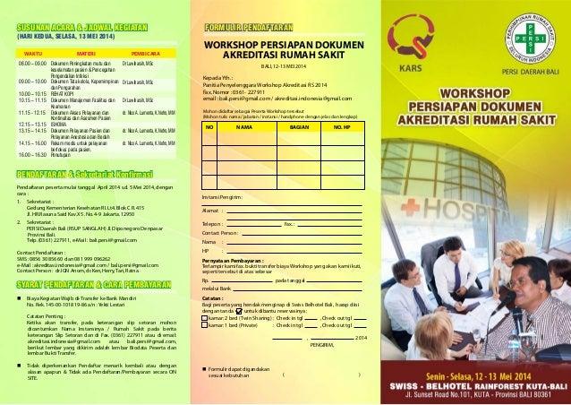 Brosur Bali Workshop Akreditasi