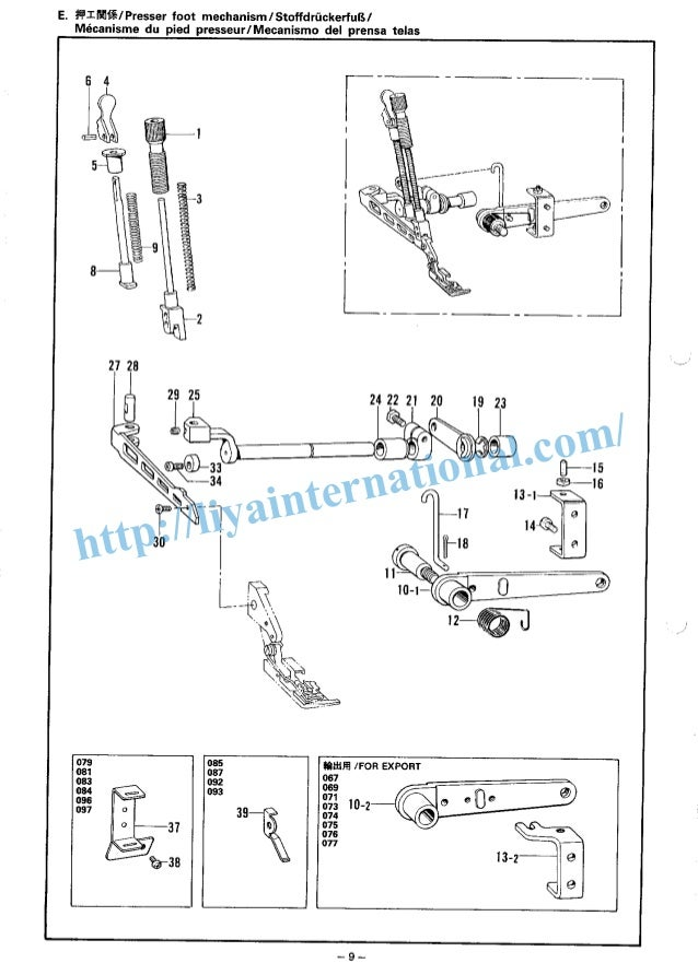 Brother b551overlock sewing machine spare parts book manual