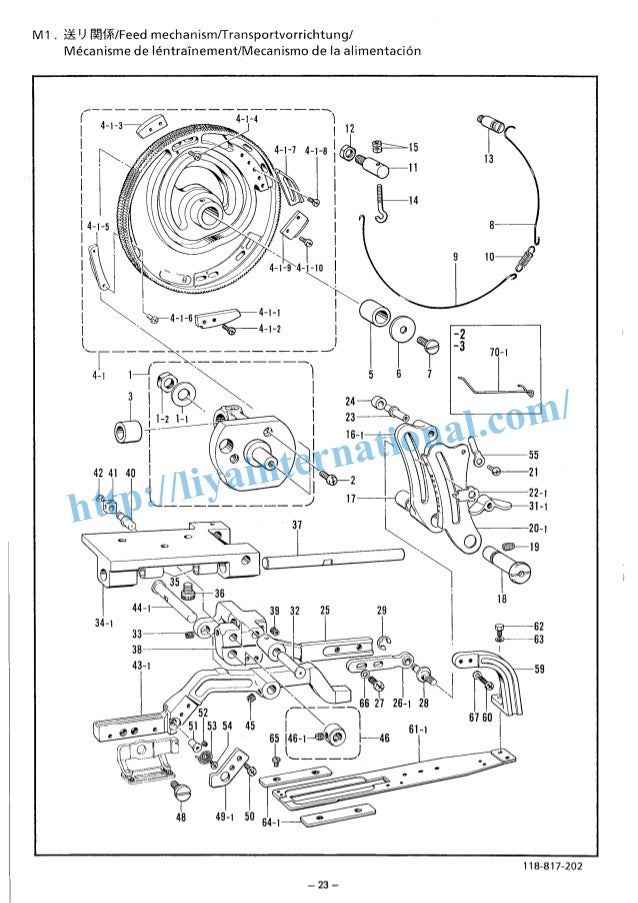 Brother b817 814 button hole sewing machine book spare parts manual httpliyainternational ccuart Choice Image