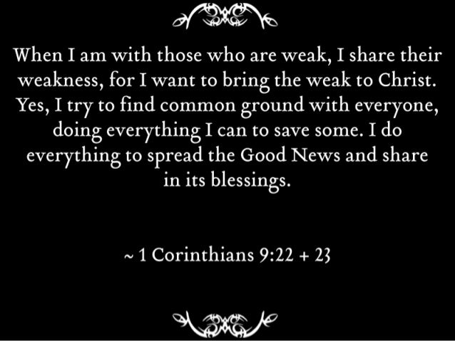 Image result for 1 corinthians 9:22