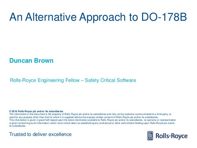 Trusted to deliver excellence © 2016 Rolls-Royce plc and/or its subsidiaries The information in this document is the prope...