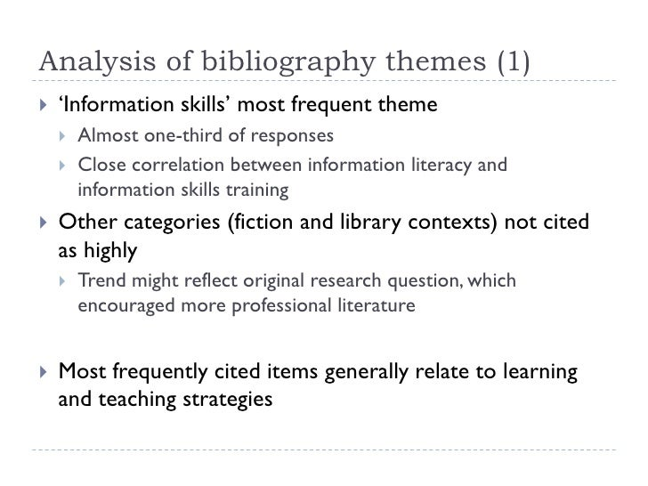 analytical bibliography Functional illiteracy in industrialized countries: an analytical bibliography ursula giere this bibliography is a follow-up to the european workshop.