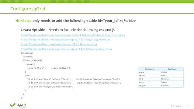 Free Jqgrid Examples