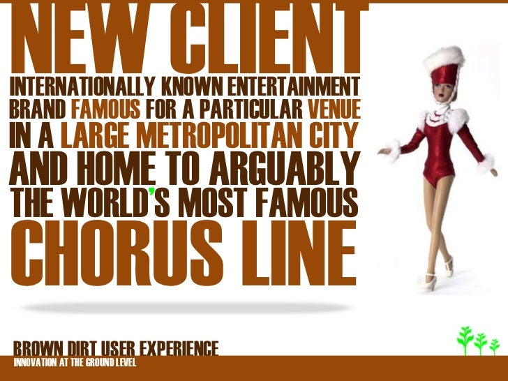 NEW CLIENTINTERNATIONALLY KNOWN ENTERTAINMENTBRAND FAMOUS FOR A PARTICULAR VENUEIN A LARGE METROPOLITAN CITYAND HOME TO AR...