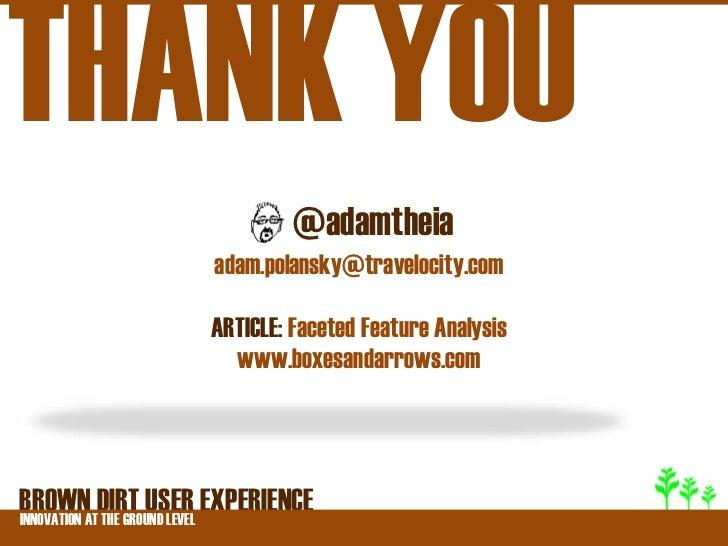 THANK YOU                          @adamtheia                 adam.polansky@travelocity.com                 ARTICLE: Facet...