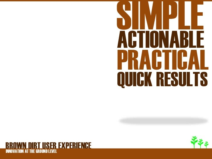 SIMPLE                              ACTIONABLE                              PRACTICAL                              QUICK R...