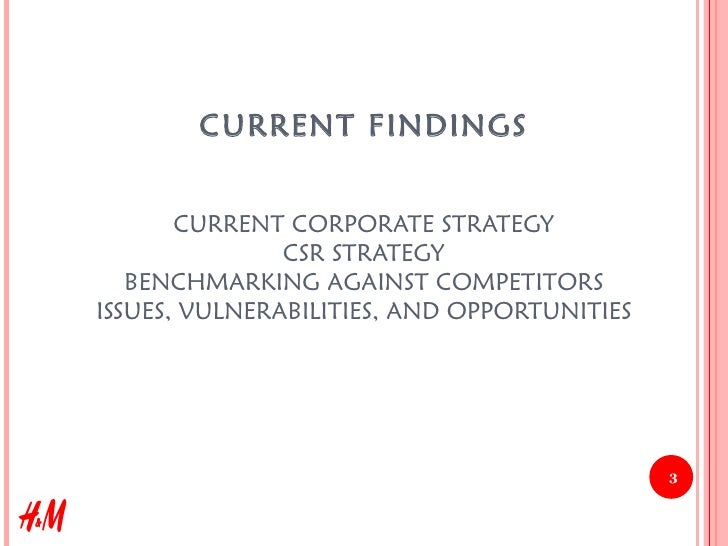Strategic Corporate Social Responsibility Recommendations for H&M, 2008 Slide 3