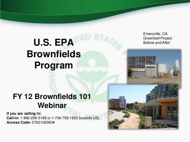 Emeryville, CA                                                         Greenbelt Project            U.S. EPA              ...