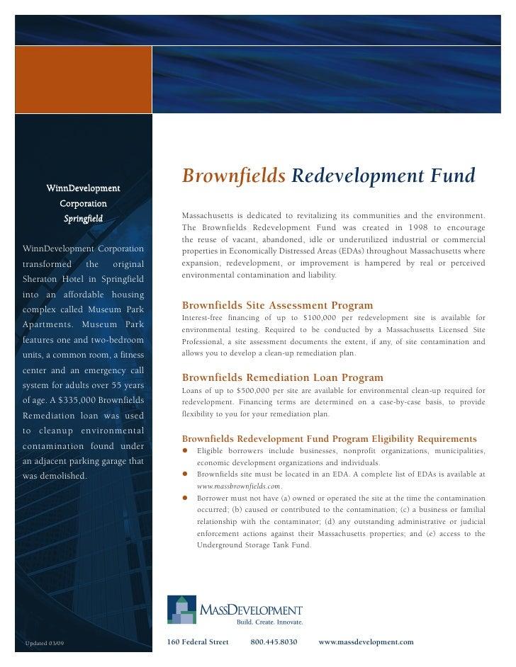 WinnDevelopment                                              Brownfields Redevelopment Fund            Corporation        ...
