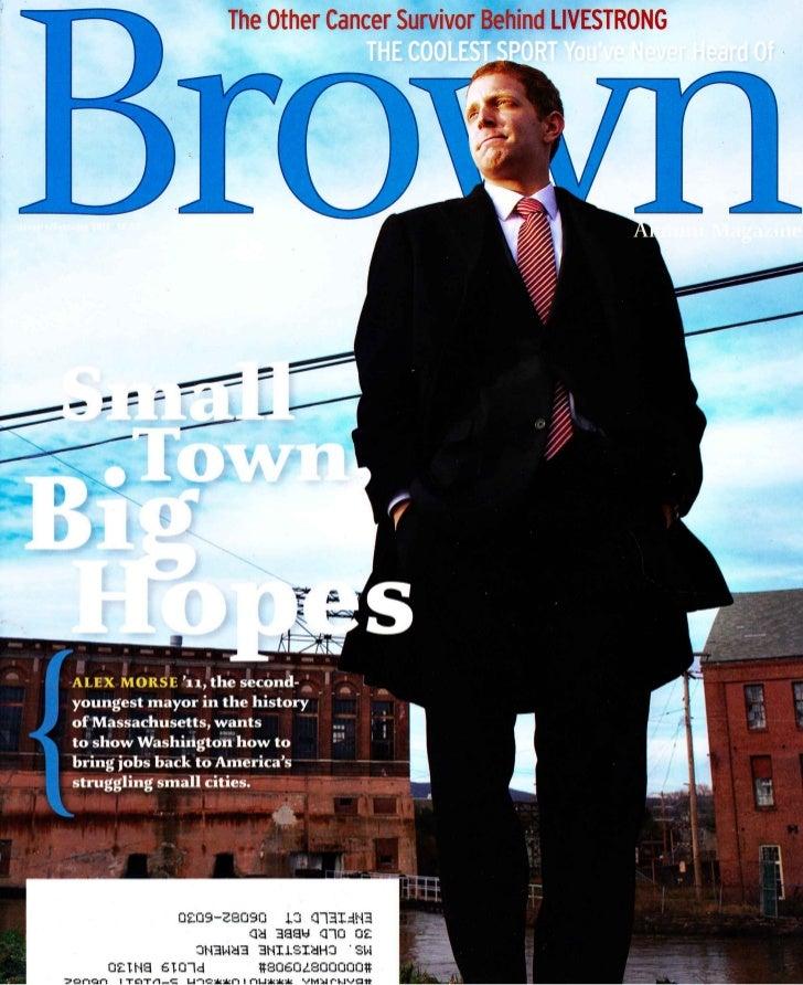Brown, holyoke mayor alex morse