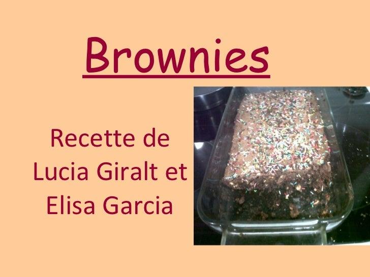 Brownies Recette de Lucia Giralt et Elisa Garcia