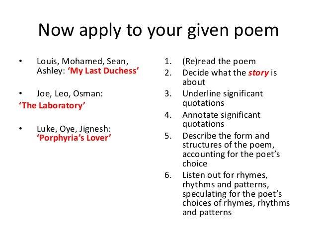 the laboratory poem