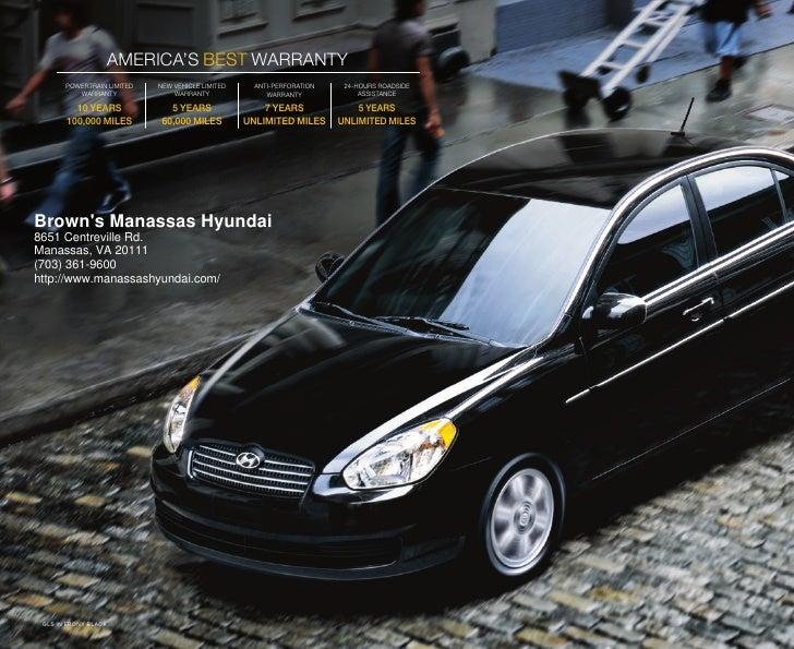 2010 Hyundai Accent Brochure Brown 180 S Manassas Hyundai Va