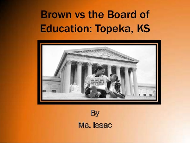 Research papers on brown vs board of education