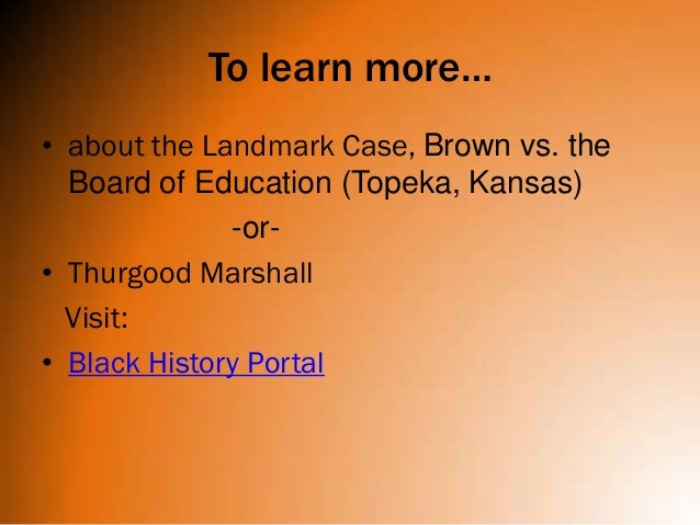History - Brown v. Board of Education Re-enactment