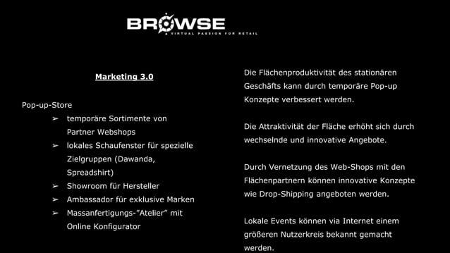 Big Data ➢ Nubon = digitale Kundenkarte & Coupons ➢ I-Beacon = In-Store Marketing ➢ Self-Checkout Marketing 3.0 Die Nutzun...