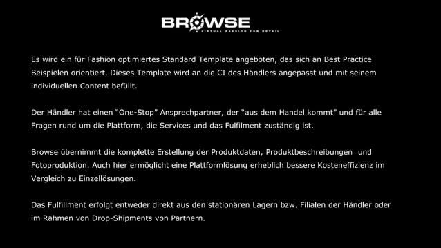 """Die Inklusivleistungen Ihres Vertrages mit Browse: a) Technik und Internet ● Hosting """"Browse Mode & Lifestyle"""" ● Software ..."""