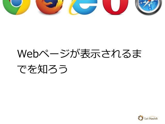Webページが表⽰されるま でを知ろう