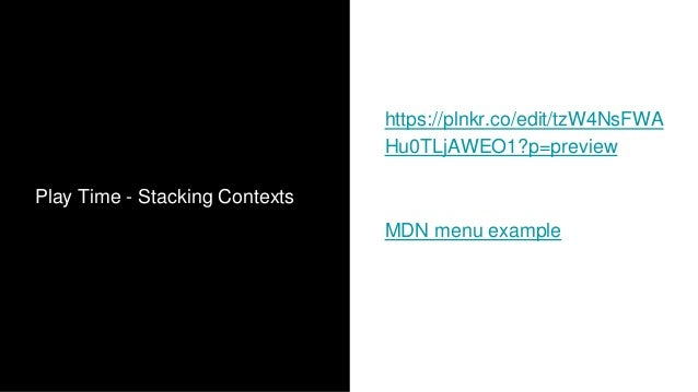 Stacking Context - Summary 1. Stacking Context, is the concept of how the browser renders elements in the 3rd dimension (f...