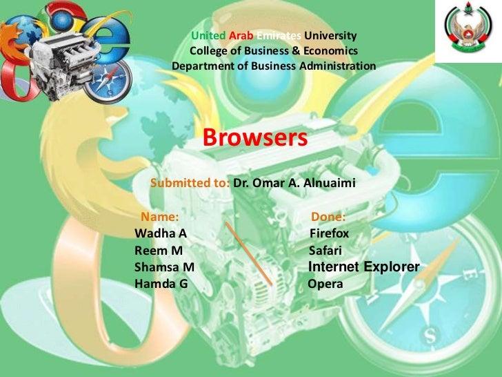 United Arab Emirates University        College of Business & Economics     Department of Business Administration          ...
