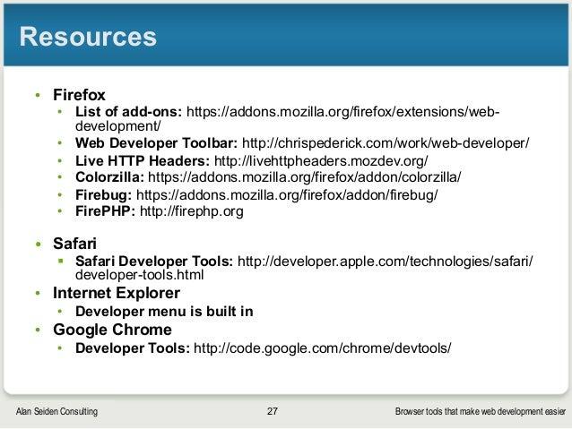 Browser tools that make web development easier