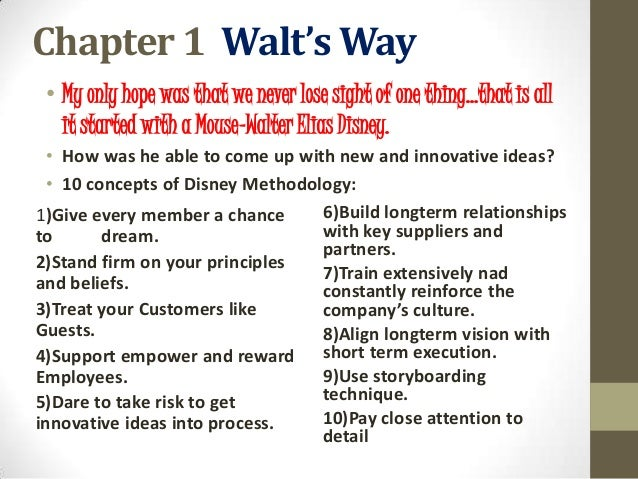 Disney Creative Strategy stages