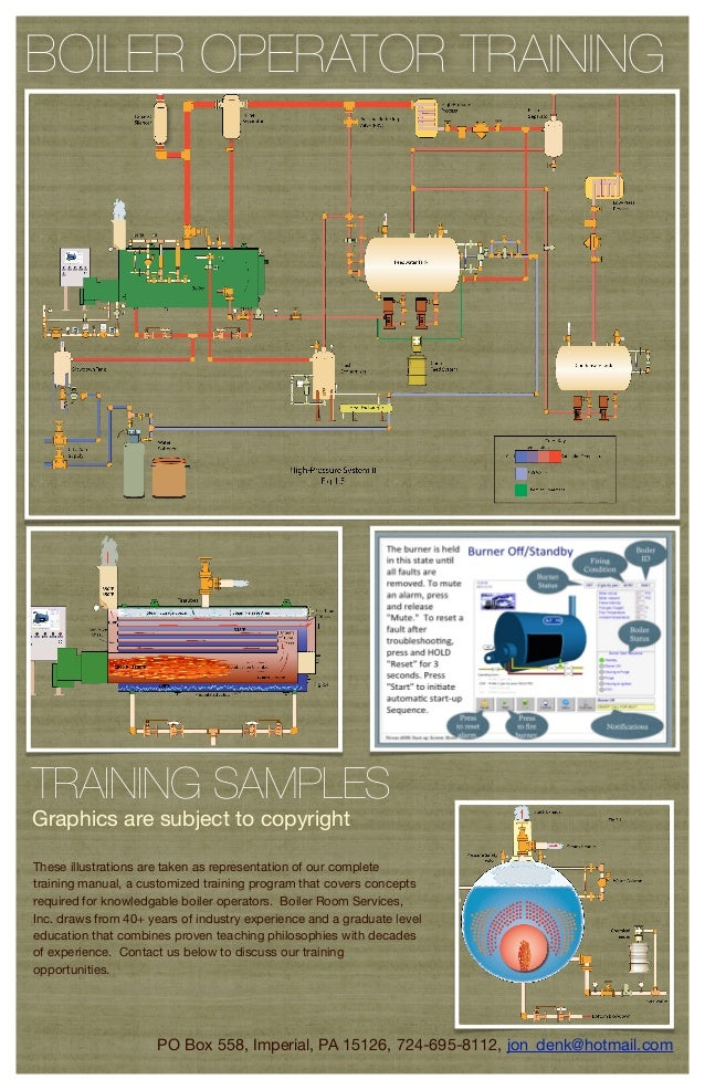 BOILER OPERATOR TRAININGTRAINING SAMPLESGraphics are subject to copyrightThese illustrations are taken as representation o...