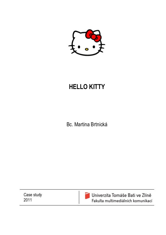 HELLO KITTYBc. Martina BrtnickáCase study2011